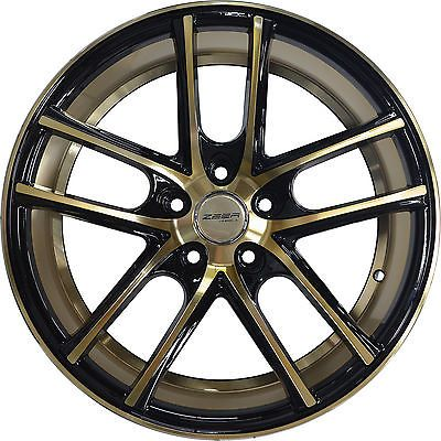 18x8 GWG ZERO 5x114.3 Gold Wheel fits DODGE GRAND CARAVAN AWD 2000 - 2004 set(4)