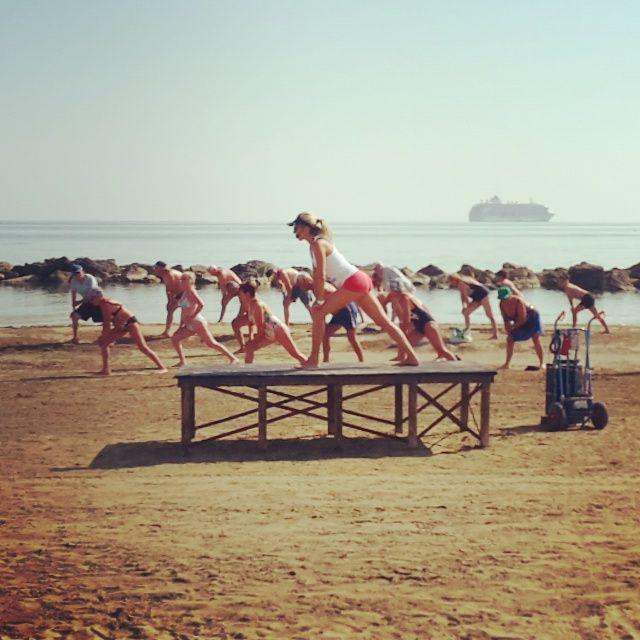 D'estate il #fitness è sulla riva... Bagno 10 Vatikaki, #Rivabella di #Rimini