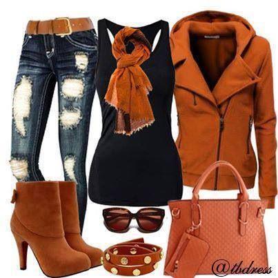 Burnt orange outfit