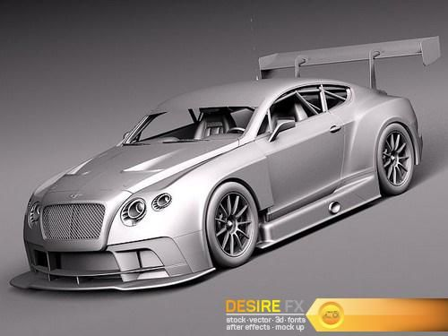 Bentley Continental GT3 2014 RaceCar 3D Model  http://www.desirefx.me/bentley-continental-gt3-2014-racecar-3d-model/