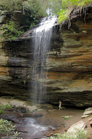 North Carolina, Asheville. Moore Cove Falls