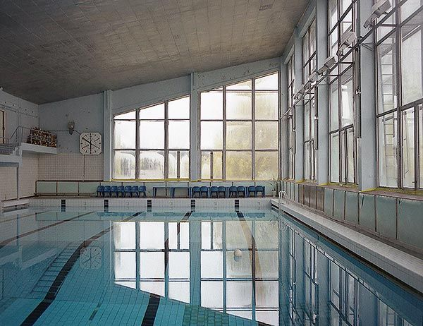BEFORE.  Pripyat Indoor Swimming Pool Building. Pre-Chernobyl nuclear meltdown.