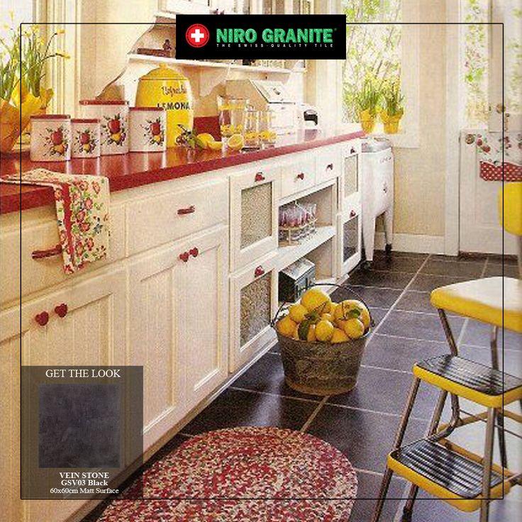 Bagi mereka yang tergolong dalam Shio Ular, bersiaplah untuk menggunakan warna merah dan kuning untuk keberuntungan di tahun ini. Kedua warna cerah tersebut bila dipadukan dapat membangkitkan semangat dan kecerian pada ruangan, terutama bila diaplikasikan pada dapur Anda. Warna merah sebagai warna pembangkit semangat berkreasi di dapur sedangkan kuning sebagai aksen yang mempercantik ruangan. Kombinasikan tile berwarna netral GSV03 Black dari koleksi Vein Stone untuk menyeimbangkan warna.
