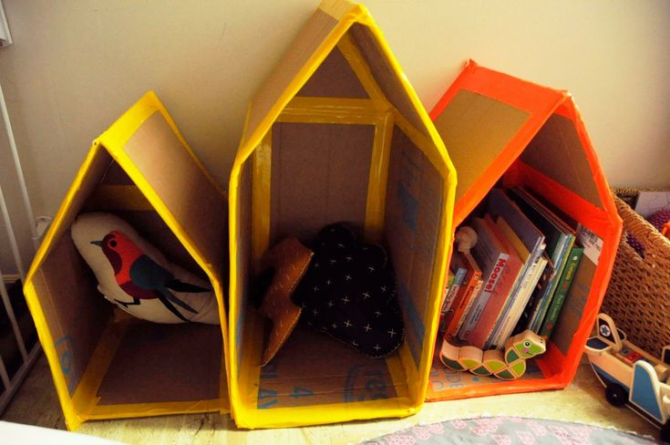Cardboard houses for kids play areas. Great money saver, ♻️ friendly and great for children's imagination