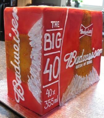 TBUDWEISER BEER   budweiser beer case cake for 40th birthday