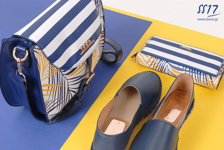 Blue marine stripes! www.doca.gr body bag: 12184 Blue espadrilles: 72999 The favorite spring trend in your guarderobe.   Explore the new DOCA Spring-Summer Collection instore or online at www.doca.gr    #doca #ss17 #sky #blue #backbag #bags #accessories #campaign#pink #fashion