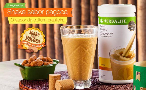 shake herbalife sabor pacoca foco em vida saudavel