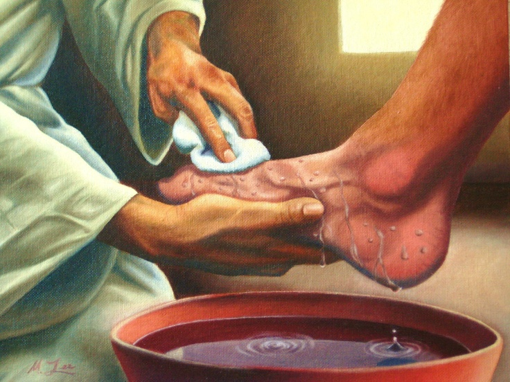 "Do As I Have Done - part of ""Hands of Healing"" series, original religious painting - 11 x 14, oil on acrylic. $150.00, via Etsy."