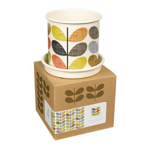Orla Kiely Scribble Stem Plant Pot (Medium) - Cadeaux.ie