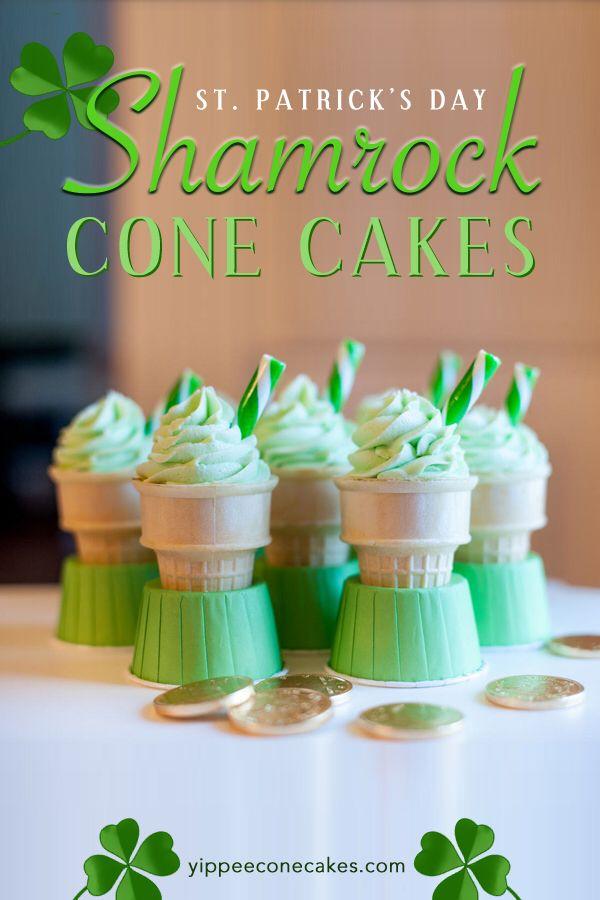 Christmas Cone Cake Kit Shamrock Shake Baking Cupcakes Cake