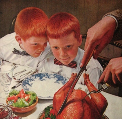 Thanksgiving Turkey advertisement -- by Norman Rockwell