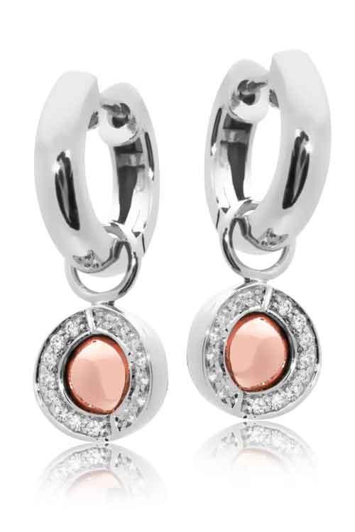 Joy de la Luz | Pendants cz silver/rosé + silver creoles  €100,00 + €45,00