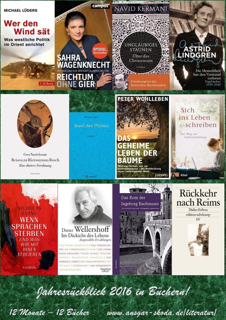 Als notorischer Vielleser hier zum Jahresende meine zwölf bemerkenswertesten Lektüreerlebnisse in kurzen Digitalien: 2016las ich viel Wissenschaftliches zu höchst unterschiedlichen Schwerpunkten. Einige Bücher eignen sich durchaus zum baldigen Wiederentdecken.