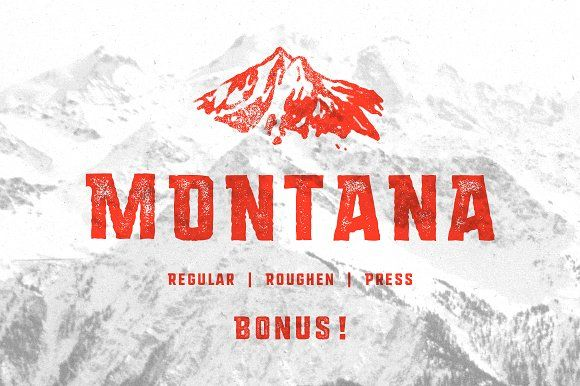 MONTANA • Font family + Freebies! by Vintage Voyage Design Co. on @creativemarket