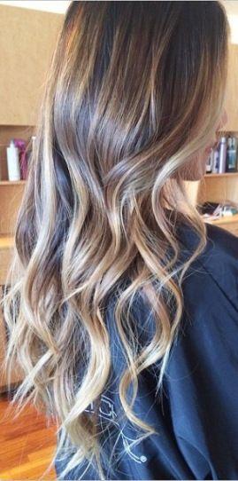 brunette with caramel blonde highlights