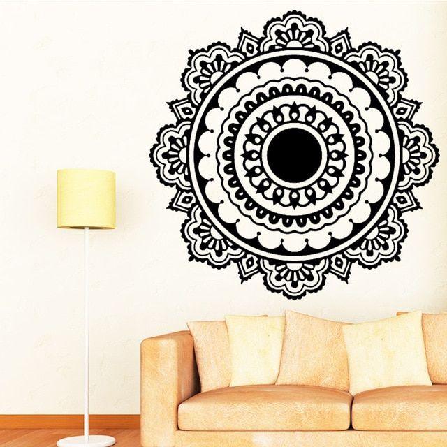buddhism india mandala wall stickers for living room namaste india