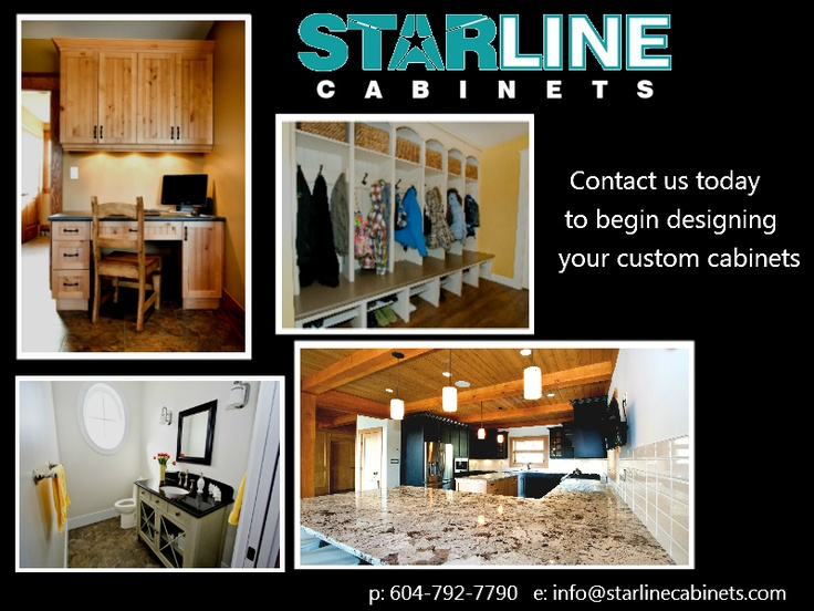 Looking for kitchen cabinets? Give us a call and we can set up an appointment with one of our designers to meet with you and begin designing a fabulous kitchen custom made just for you! 604-792-7790 www.starlinecabinets.com