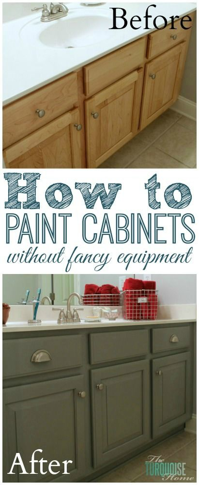 The Average DIY Girl's Guide to Painting Cabinets: Supplies - no professional equipment needed! #DIY #Painting --> super ideas.