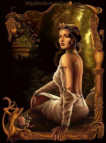 Diosa Hera La más grande de todas las diosas olímpicas, Hera era hija mayor de Crono y Rea, y por tanto hermana de Zeus.