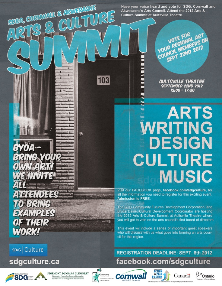2012 Arts & Culture Summit for SDG, Cornwall and Akwesasne