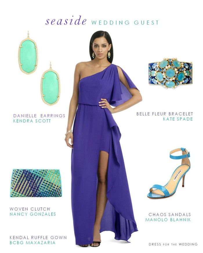Adore these colors! What to Wear to Summer Seaside Wedding via @Dress for the Wedding