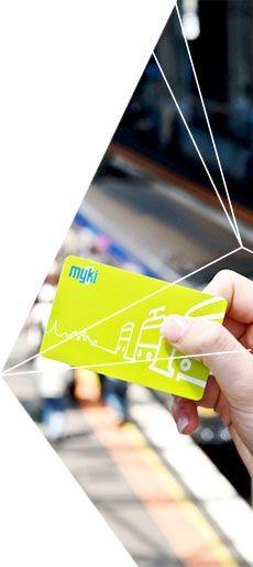 Myki card for public transport