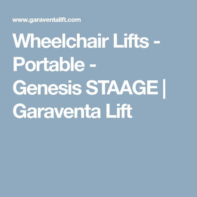 WheelchairLifts - Portable - GenesisSTAAGE | Garaventa Lift