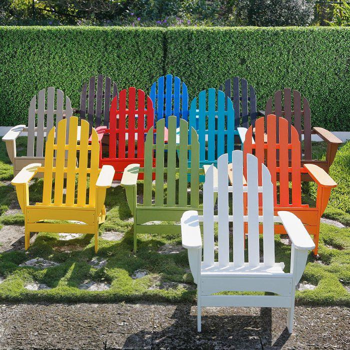 Colorful Plastic Adirondack Chairs   Home Furniture Design Some To Compare