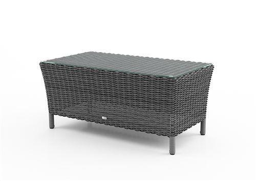firenze stolik z umeleho ratanu sedy