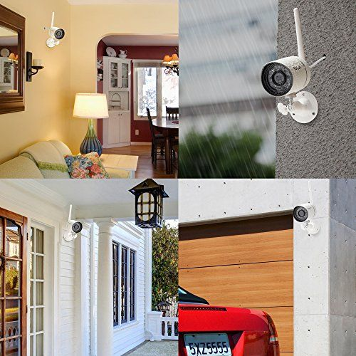 Funlux® NEW Outdoor 720P HD Smart Wireless Surveillance Camera System — Set Up in 2 Mins