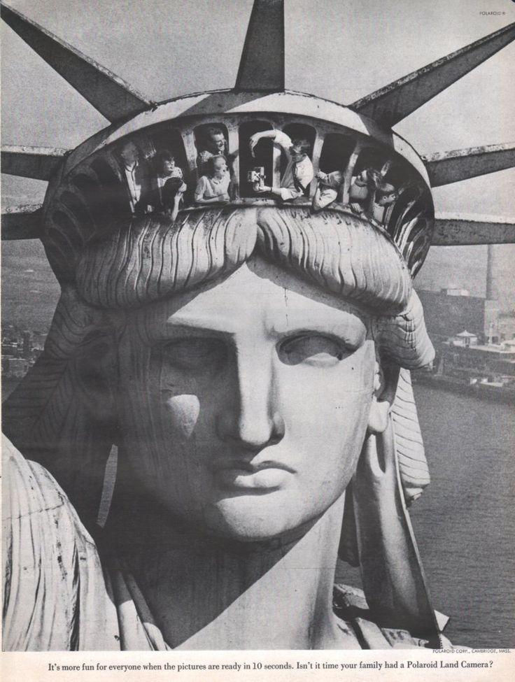 NYC. 1950s Polaroid ad