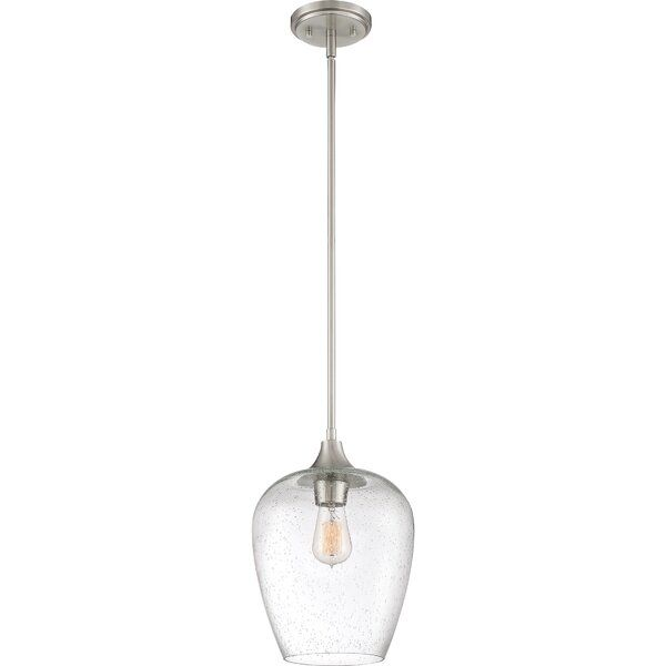Haskin 1 Light Single Bell Pendant Mini Pendant Bell Pendant Quoizel