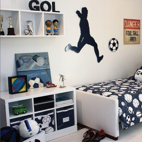 quartos de meninos tema futebol