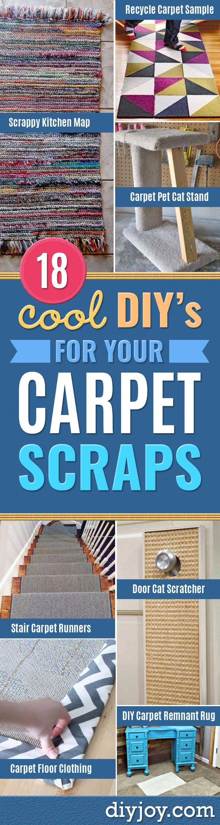 DIY Ideas With Carpet Scraps - Cool Crafts To Make With Old Carpet Remnants - Ch...