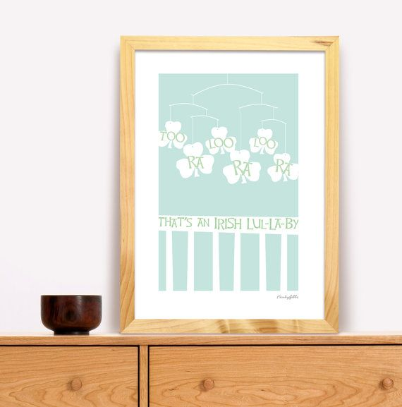 Irish Too Ra Loo Ra Lullaby Modern Trad Poster by FunkyGibbo, $19.00