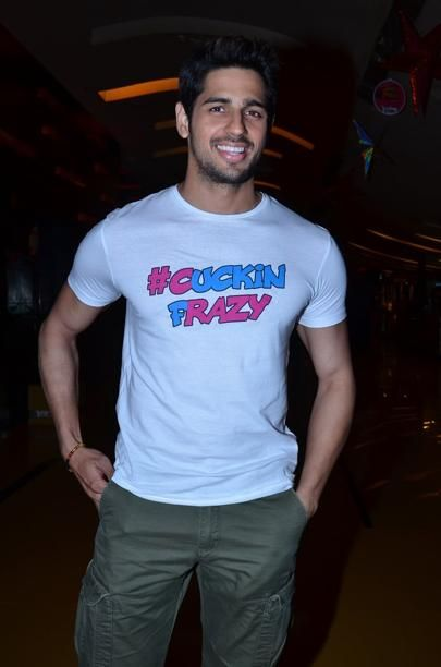 Bollywood star Sidharth Malhotra