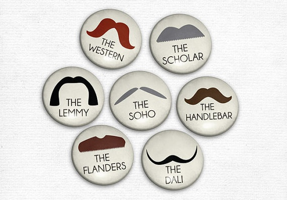 Nice Moustache Pins again