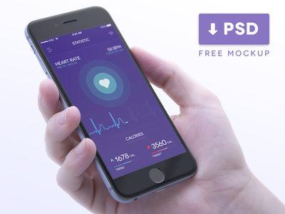 Health Tracker in iPhone Mockup