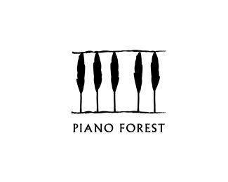 I like the simplicity of this logo. It's cool how the trees also look like piano keys thus relating to the name Piano Forest.