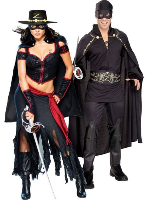 Lady Zorro and Zorro Couples Costumes - Party City