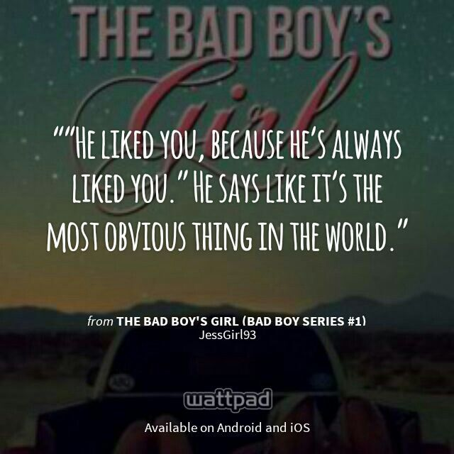 "I'm Reading ""The Bad Boy's Girl (Bad Boy Series #1)"" On"