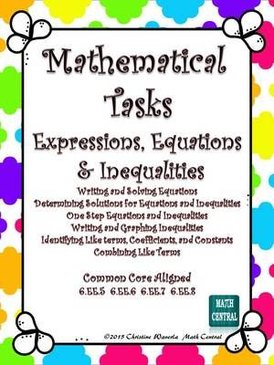 Worksheets Expressions Equations And Inequalities Worksheets 235 best images about algebra on pinterest student solving expressions equations inequalities mathematical tasks from math central teachersnotebook com