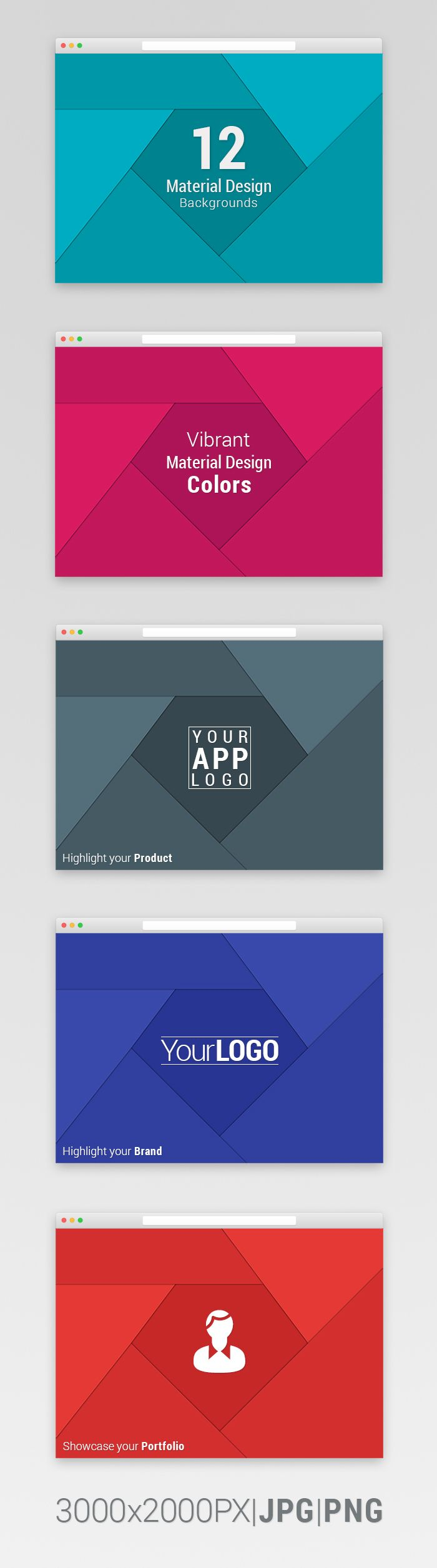 Free Material Design Promotional Backgrounds - Freebie #12