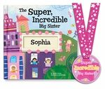 "The perfect gift for a new big sister! The Super, Incredible Big Sister book from I See Me! comes personalized with big sister's name and the name of the new baby. The book reassures big sister that she is loved and appreciated... and it rewards her for helping out and being a ""super star"" with her new sibling. It comes with a coordinating Super Incredible Big Sister award medal with a place on the back of the medal to write the proud sister's first name! Written by award-winning children's a...: Incredible Big, Gift Ideas, Big Brother, Sister Personalized, Sister Book, Big Sisters, Baby, Super Incredible"