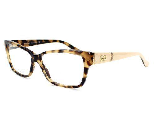 gucci eyeglasses frame gg 3559 l7b acetate rhinestones havana top brands - Womens Gucci Frames