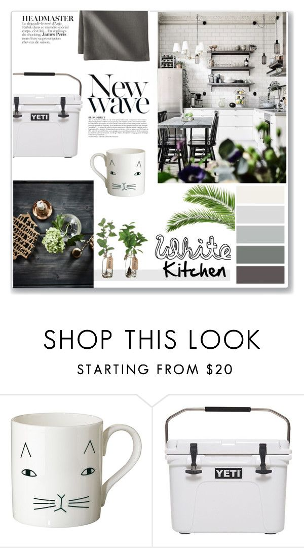 """""""White Kitchen"""" by mejola on Polyvore featuring interior, interiors, interior design, home, home decor, interior decorating, Anja, Donna Wilson, CB2 and kitchen"""