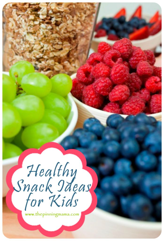 Healthy and Easy Snacks for Kids and Toddlers  - Great for home, school, or On-the-Go!  Plus a  FREE printable!