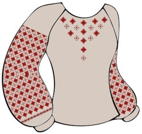 Льняная серая детская вышиванка ВДЛ-005С