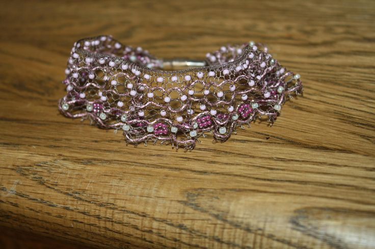 Bracelet / Bobbin lace, handmade by luxurybobbinlace on Etsy
