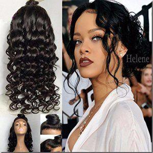 Helene Hair 2016 Grosses soldes Natural Vague Trois Partie perruque Brésilien Virgin cheveux humains Cheveux sans colle complète Lace Wigs…
